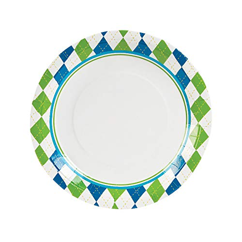 Fun Express - Golf PaR-Tee Dinner Plates for Birthday - Party Supplies - Print Tableware - Print Plates & Bowls - Birthday - 8 Pieces]()
