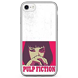Loud Universe Mia Wallace pulp Fiction iPhone 7 Case Retro Movie Poster iPhone 7 Cover with Transparent Edges