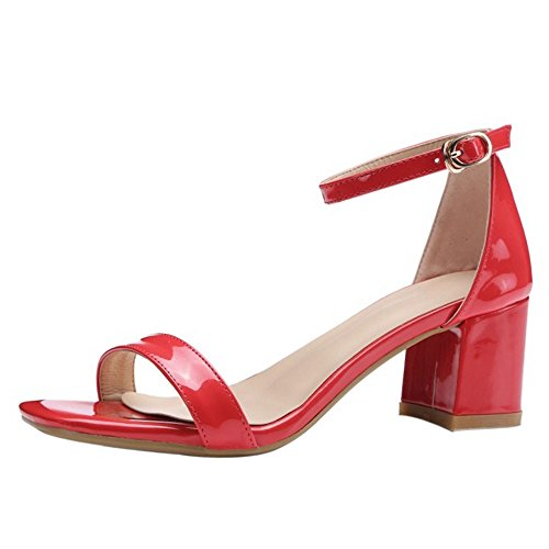 super cheap outlet online official shop COOLCEPT Mujer Moda Correa de Tobillo Sandalias Tacon Ancho ...