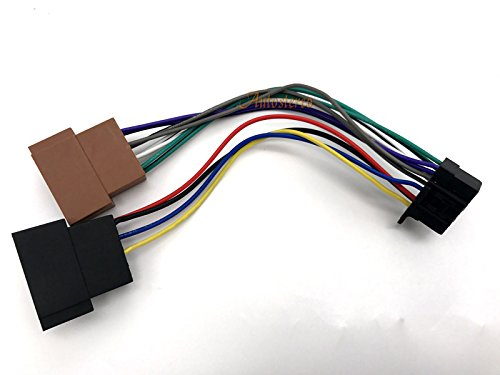 Radio Wire 16 Pin Harness (Autostereo Car Audio ISO standard harness ISO female HARNESS CAR AUDIO INSTALLATION Cable for SONY CDX- DSX- MEX-series 16-pin 22x10mm ISO female Wire Harness for Car Stereo CD Player Plug)