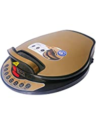 Liven LR-A434 Electric Skillet, One Button to Detach and Wash, Golden Shell