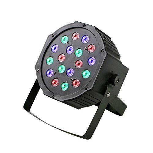 18 Three Light Bracket (18 Leds RGB Par Lights Sound Activated DMX 512 Controller Dj Stage Lights for DJ Bar Disco Wedding Party Events Night Club Birthday Party)