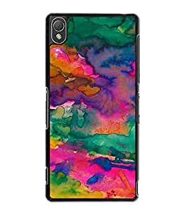 Tie Dye Colorful Sony Xperia Z3 Hard Plastic Phone Case Cover