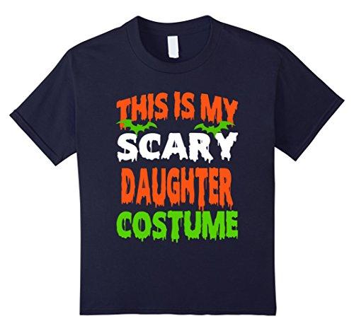 Kids Daughter - SCARY COSTUME HALLOWEEN SHIRT 12 Navy