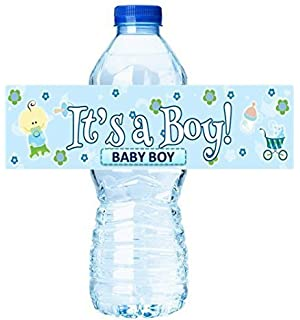 Its a Boy Active Baby Boy Shower Party Decorations - Water Bottle Labels Stickers -12pack