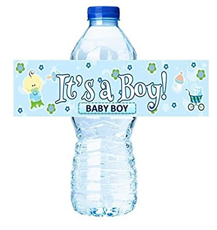Its A Boy Active Baby Boy Shower Party Decorations Water Bottle Labels Stickers 12pack