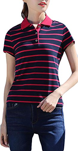 BeiBang(バイバン) レディース ポロシャツ 半袖 スポーツtシャツ スリム カジュアル ゴルフシャツ 半袖tシャツポロネック レディース 夏物 大きいサイズ