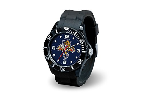 Rico Industries NHL Florida Panthers Spirit Watch, Black (Panthers Watch Sports)