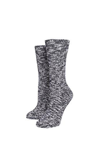 Birkenstock Womens Sock W Slub Sock Black Gray Size (Birkenstock Womens Sock)