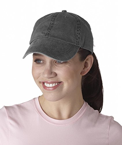Anvil Solid Low-Profile Pigment-Dyed Cap (145)- Charcoal,OS (Twill Solid Pigment Dyed Cap)