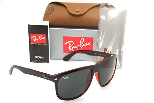 Ray-Ban Highstreet TOP MAT Black on RED Trasparent / Grey RB 4147 6171/87 - Rb4147 Size