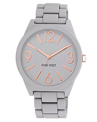 Nine West Women's  NW/1678GYRG Watchme  Analog Display  Japanese Quartz Grey Bracelet Watch (Nine West Uk-shops)
