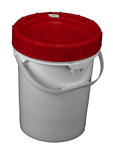 3.5 Gallon Life Latch Screw Top Lid and Bucket Red Lid-3 Pack by BayTec