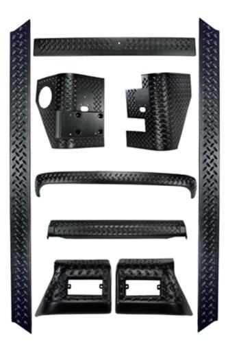Rugged Ridge 9 Piece Black Full Body Armor Kit for Jeep Wrangler