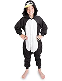 Emolly Kids Penguin Onesie Animal Pajama Costume - Soft and Comfortable With Pockets! Fun As a Costume or Pajamas - 5% Of Sales Donated To San Diego Zoo Global Wildlife conservancy