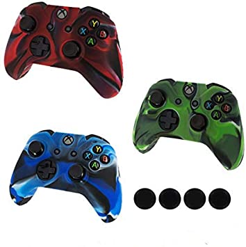 Xbox One Controller Protective Case, UKYLIN 3 Pack Soft Anti-Slip Silicone  Controller Case with 12