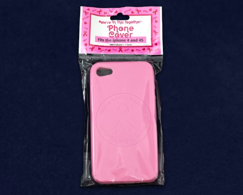 Pink Breast Cancer Ribbon Cover for Iphone 4 & 4S (Awareness Iphone 4 Covers)
