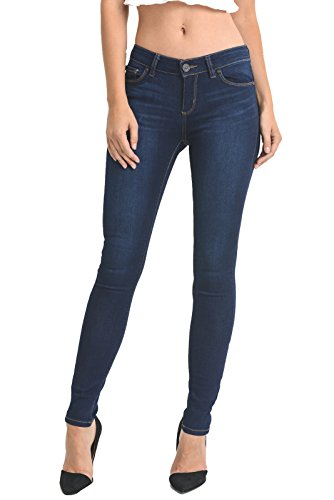 Low Rise Stretch Blue Jeans - 5
