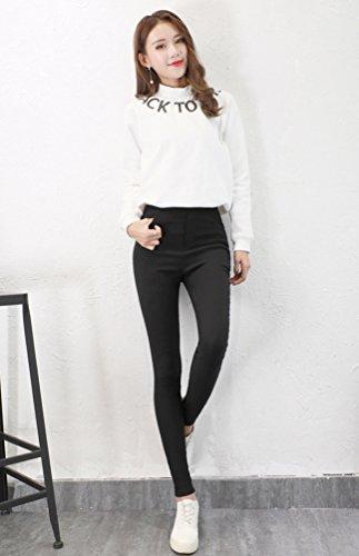 Para Mujer Oficina Yilianda Deportivos Skinny Largos Negro Elegantes Casuales Pantalones Jogging nxPfaq4Uw