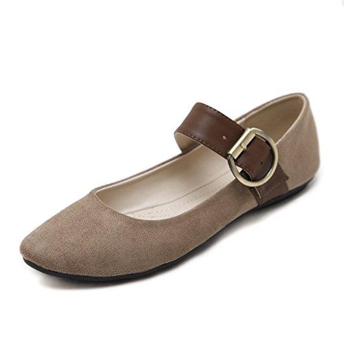 Meeshine Women's Velvet Mary Jane Shoes Comfy Ballet Flats Shoes For Dance Yoga Exercise(8 B(M) (Velvet Ballerina Women Flat Shoes)