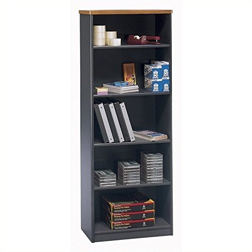 Bush Business Furniture Series A Collection 26W 5 Shelf Bookcase in Natural Cherry