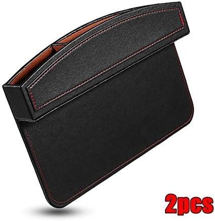 Aufbewahrungsbox für Autositzabst 1pc 2ST PU-Leder-Auto-Sitz Crevice Gap Storage Box Pocket-Organizer-Telefon-Halter-Auto-Sitz Side Gap Tasche Universal- (Color : 2pcs Black, Size : 1)
