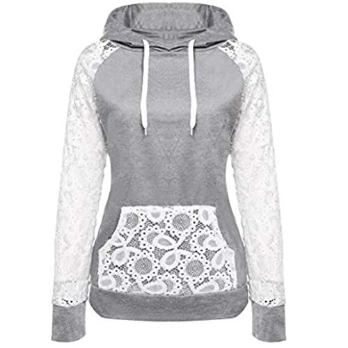 Jumper Ring - Clearance Womens Tops ,KIKOY Lace Patchwork Sweatshirt Pullover Hoodie Coat Outerwear