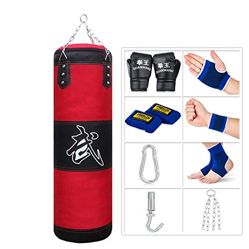 Sfeexun Punching Bag for Man Women Kids, Indoor/Garden Boxing Bag Unfilled Heavy Bag Set with Punching Gloves, Chain…