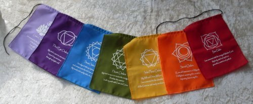 Chakra Meditation Cotton Prayer Flags Bunting - Hand Made in Bali by Siesta by Siesta