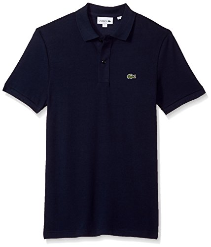 Lacoste Men's Petit Piqué Slim Fit Polo Shirt, Navy Blue, Medium