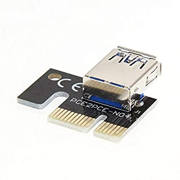 Goldyqin - Tarjeta gráfica (Mini USB 3.0, PCI-E 1 x hasta 16 ...