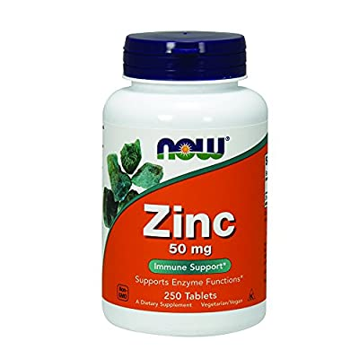 Now Foods Zinc Gluconate Tablets, 50 mg, 250 Count