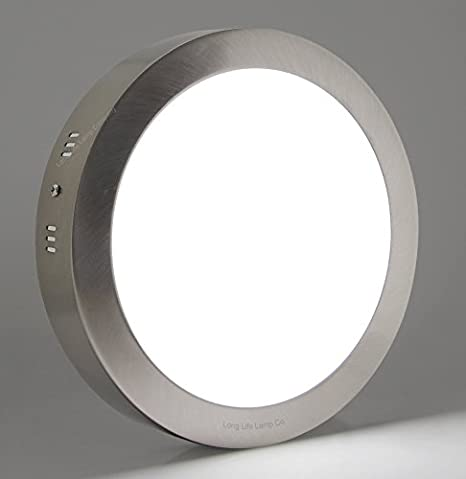 18w Led Round Panel Stainless Steel Body Surface Mount Ceiling Panel