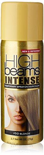 high beams Intense Temporary Spray on Hair Color, Blonde, 2.7 - Honey Hair Blonde Spray
