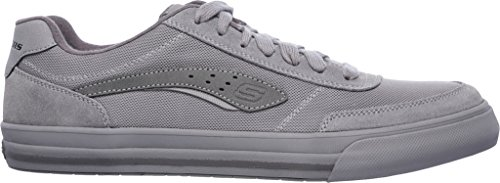 Skechers Mens Avslappnad Passform Diamond Revent Sneaker Grå