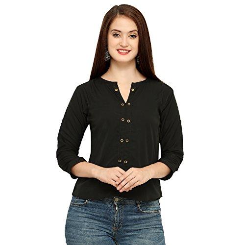 cc9b20cf2d1ee7 Vrati Fashion Women Tunic Short Top for Jeans Plain Diamond Creap Top for Daily  wear Stylish Casual and Western Wear Women/Girls Top - Buy Online in Oman.