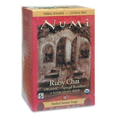 Numi - Herbal Tea, Organic, 18 Bags/BX, Ruby Chai, Sold as 1 Box, NUM 10200 by Numi Ruby Chai Tea