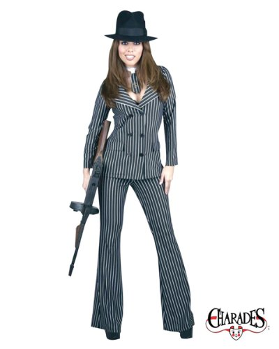 Adult Classic Gangsta Moll Costume - Small]()