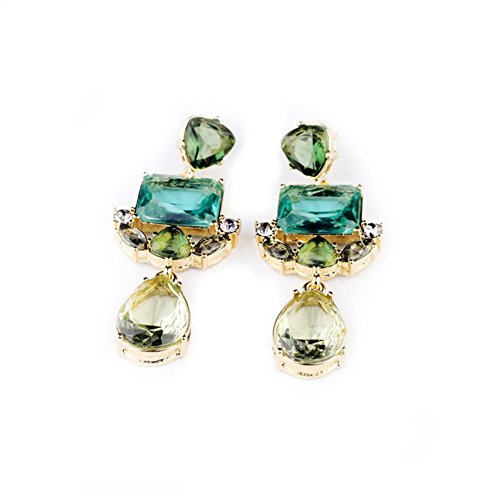 Kaariag Punkin¨ Rhinestone Crystal Waterdrop Shape Dangle Earrings
