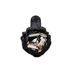 Makeup Bag, makeup case, Makeup Pouch with drawstring, Quick and Easy access to all your Makeup and Cosmetics, Waterproof Toiletry portable Travel Makeup Bag Storage fits anywhere