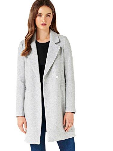 Ever New Womens Elisa Duster Coat Graphite Grey (Wool Duffle Coat Women)