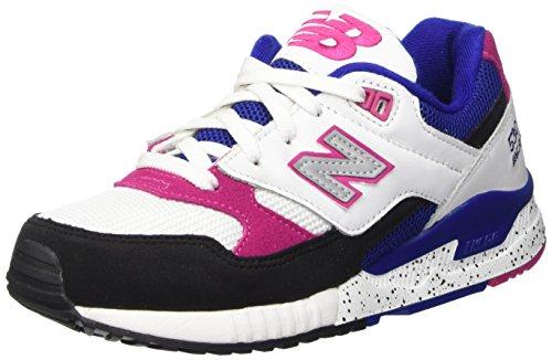 New Balance W530, Zapatillas de Gimnasia Para Mujer Bianco (White Pink)