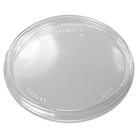 Dart 12CLR Non-Vented Clear Color Lid for Foam Cups and Containers (Case of 1,000) - Dart Vented Lid