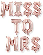 Rose Gold Miss to MRS Foil Balloon Banner - Bride to Be, Bachelorette Hen Party Supplies Decorations Bridal Shower Wedding Letter Balloons Large