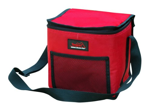 Texsport Can Cooler Bag, 12 Can (9 X 7.5 X 8.5-Inch, Red/Black) - Texsport Black Ice