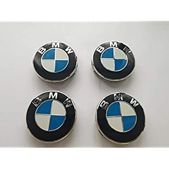 Usa Seller Set Of 4 Bmw Wheel Center Caps Hub Caps 68mm Standard Fit For All Models With Stock Bmw Wheels Blue White Color