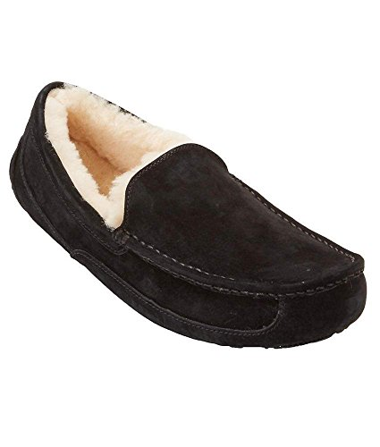 UGG Australia Men's Ascot Slippers Black Suede Size 9 by UGG