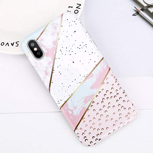 Fitted Cases - Glitter Powder Marble Phone Case For Iphone 7 Plus Case For Iphone X Xs Max Xr 8 7 6 6s Plus Silicone Soft Tpu Back Cover - For iPhone XR_7485 - Essentia Clip Cell Escape Bag