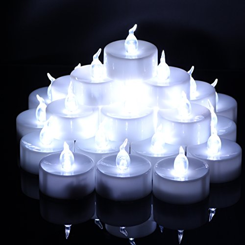 OMGAI 24 PCS LED Tea Lights Candles Battery-Powered Small Bright Flickering Flameless Candles for Home Decoration - Cool White by OMGAI (Image #3)