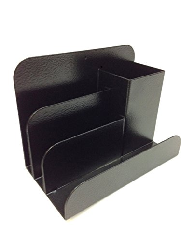 Buddy Pad Desk Products - BUDDY PRODUCTS Steel Desk Organizer, Black (Steel Desk Organizer / 0500-4)